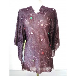 Burgundy handmade lace...