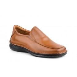 Cognac leather shoe large size