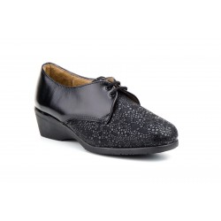 Special wide leather shoes