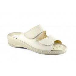 Leather leather sandal with...
