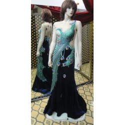 Long party dress peacock
