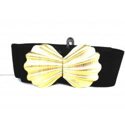 Elastic belt decorated in...