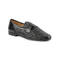 Shoe Man  black braided...