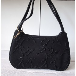 Black party bag with stones...