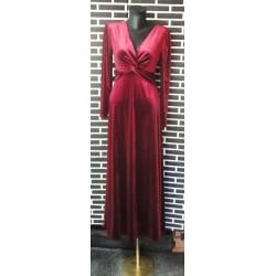 Red velvet dress long stick