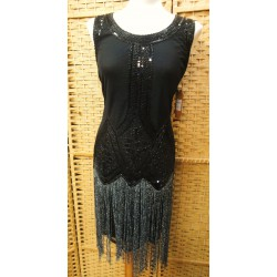 Black party dress with...