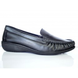 Black leather moccasin with...