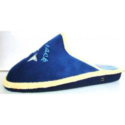 Blue slippers.