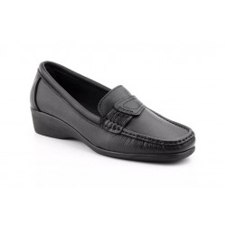 Black leather loafers size 43