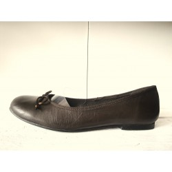 Brown leather flats 43,44