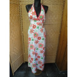 Cotton long dress  red and...